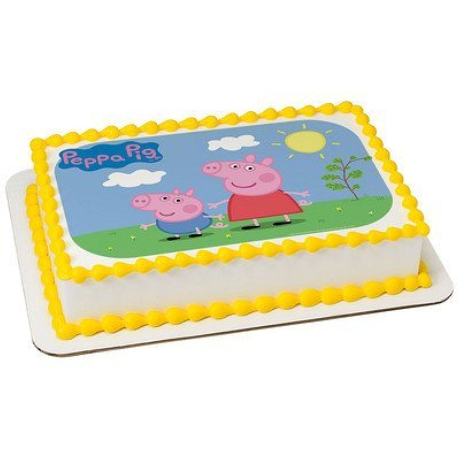 1 2 Sheet Peppa Pig Sunny Days Edible Image Cake Topper By A Birthday Place Awesome Products Selected Anna Churchill