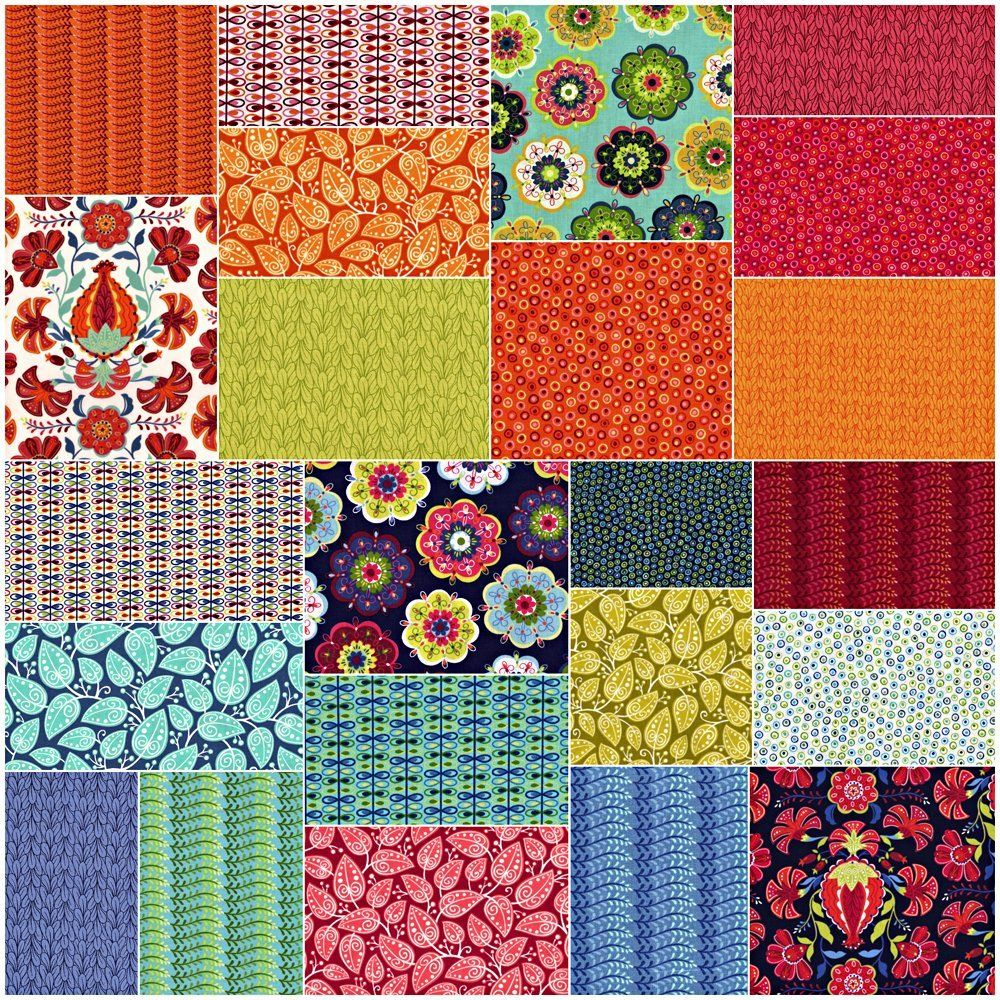 Alex Anderson MIRAGE Fat Quarter Bundle 23 Precut Cotton Fabric ... : cotton fabric quilting - Adamdwight.com
