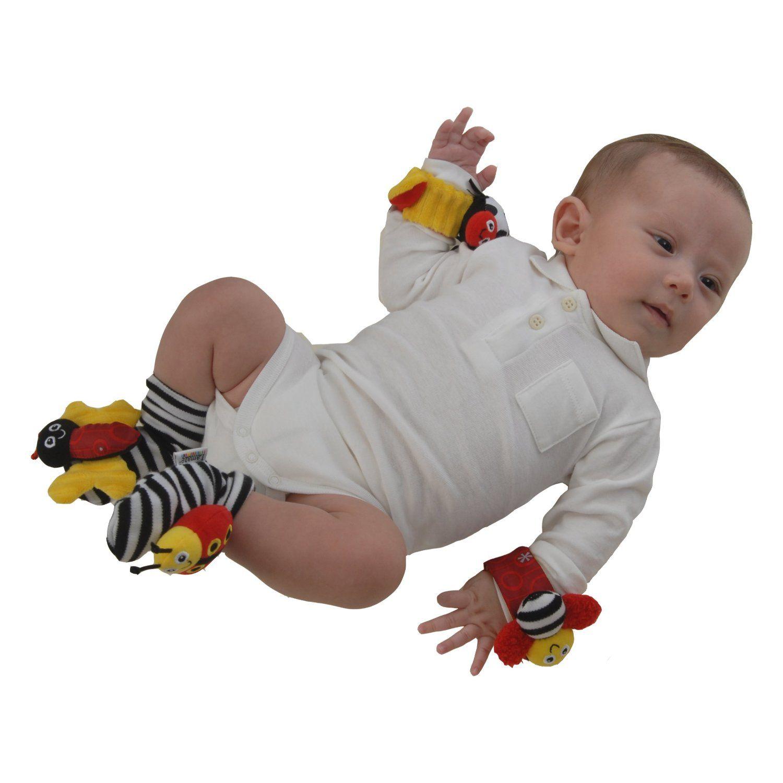 Amazon Com Lamaze High Contrast Wrist Rattles Toys Games Rattles Baby Rattle Kids