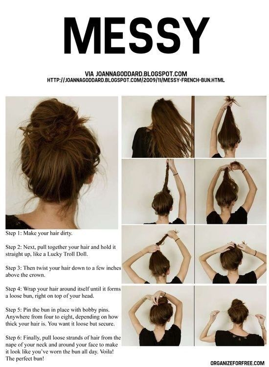The Perfect Messy Bun Tutorial! 😊 | Easy hairstyles for ...