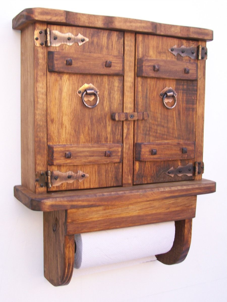Resultado de imagen para porta rollo de cocina porta for Muebles rusticos de madera