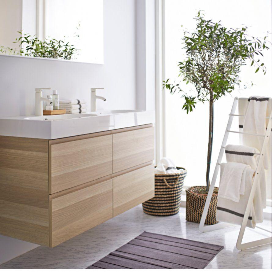Une salle de bains scandinave IKEA | Salle bains | Salle de Bain ...
