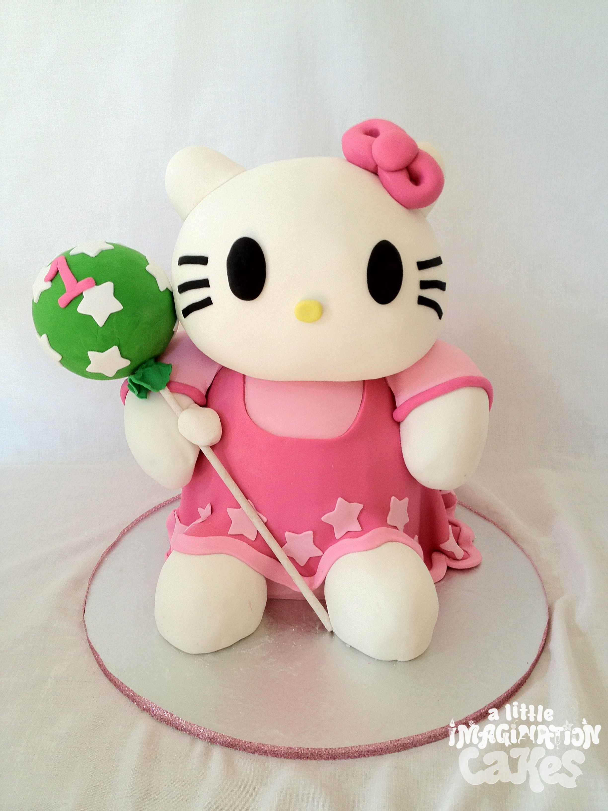 Super cute Hello Kitty cake by A Little Imagination Cakes 3D