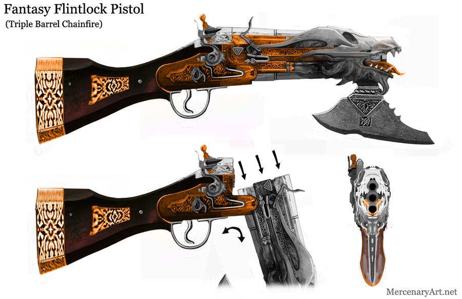 Fantasy Flintlock by Mercenary-Artist.deviantart.com on ...