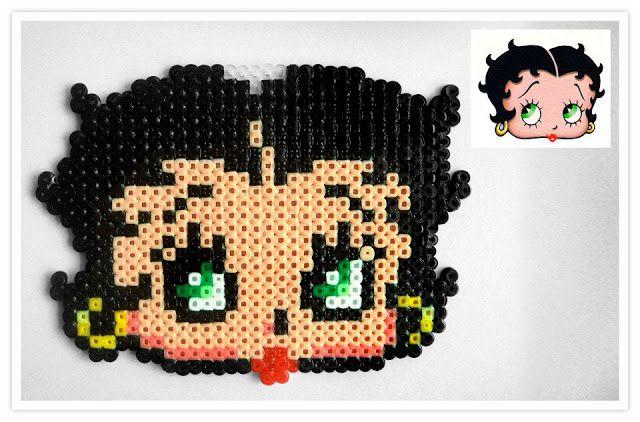 Betty Boop hama mini beads - Pixel Art Shop