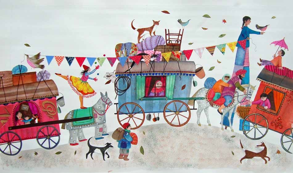 The Circus Trundled -The Illustration Cupboard by Jane Ray