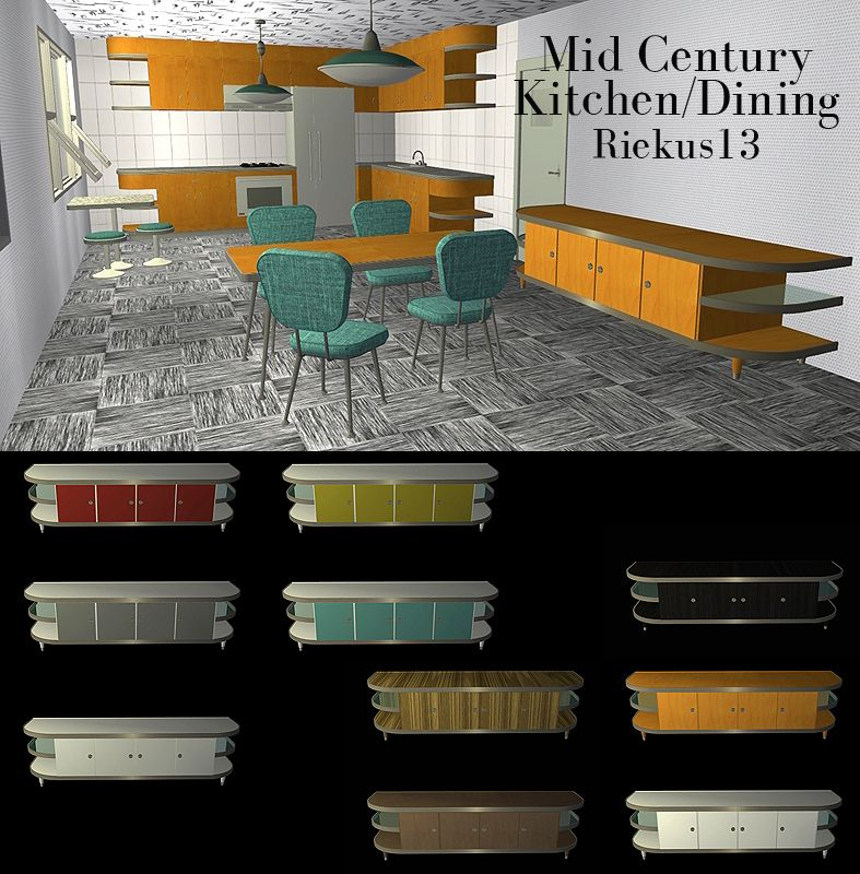 mid century modern dining and style set sims 3 download. sims2 - midcentury kitchen/dining downloads bps community recolors at mid century modern dining and style set sims 3 download