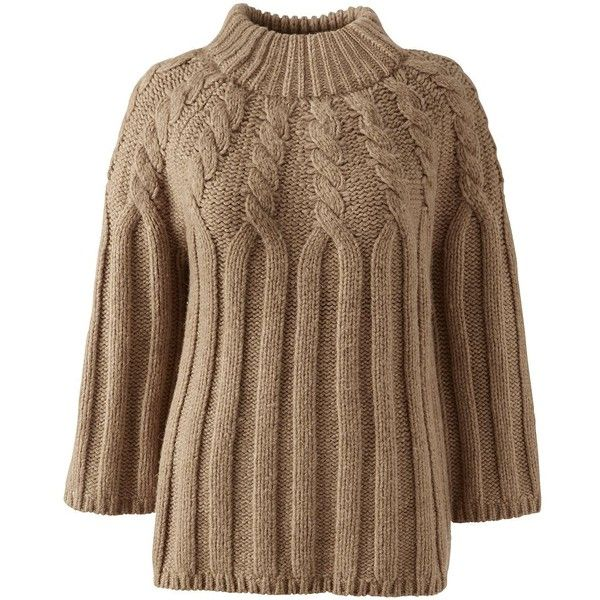 Lands' End Women's Petite 3/4 Sleeve Wool Blend Cable Sweater ($99 ...