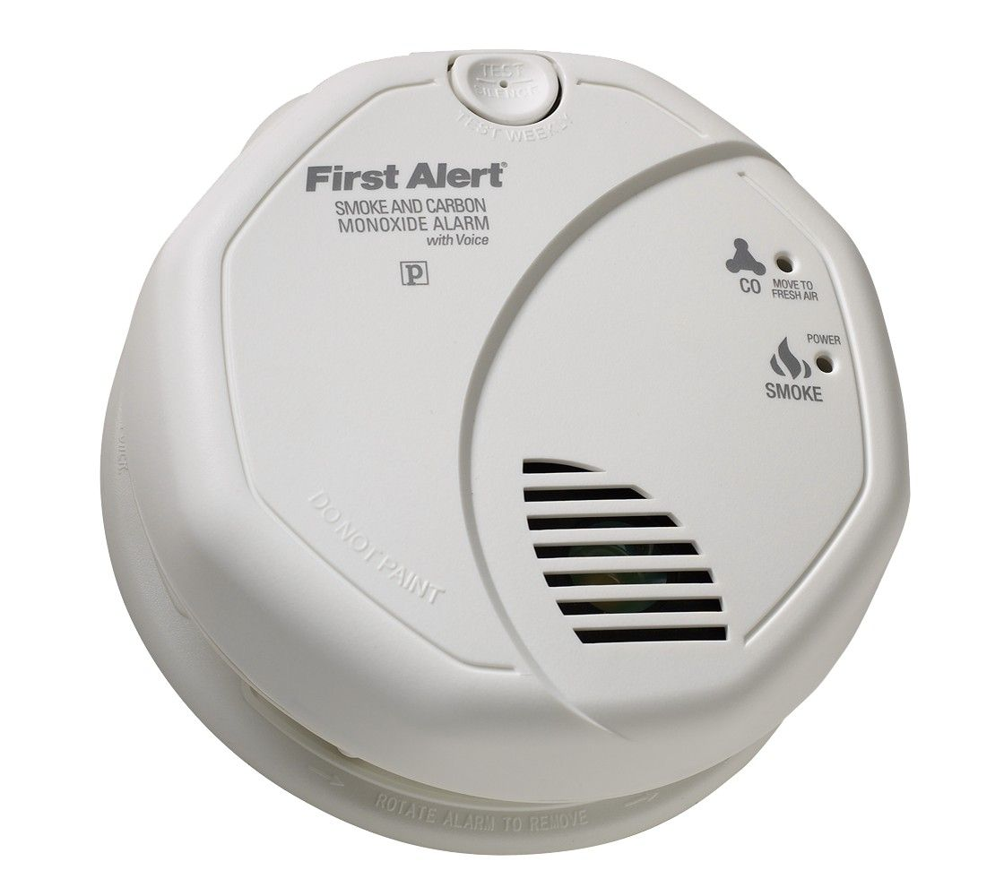 First Alert Battery Operated Talking Smoke And Carbon Monoxide Detector Brk Prc700v White With Images Carbon Monoxide Alarms Smoke Alarms Carbon Monoxide