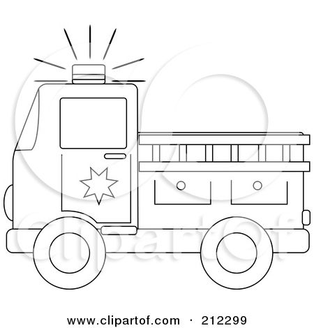 photo about Fire Truck Template Printable referred to as Fireplace Truck Stencil Clipart Blue Eyed Hearth Truck Persona