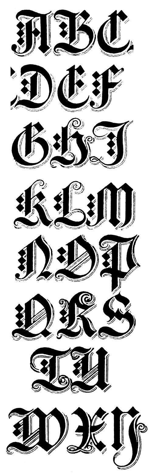 gothic alphabets | sierletters | pinterest | kalligrafie alfabet