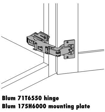 Blum 170 Degree Susan Hinge - The Cabinet Joint | Kitchen Fixtures ...