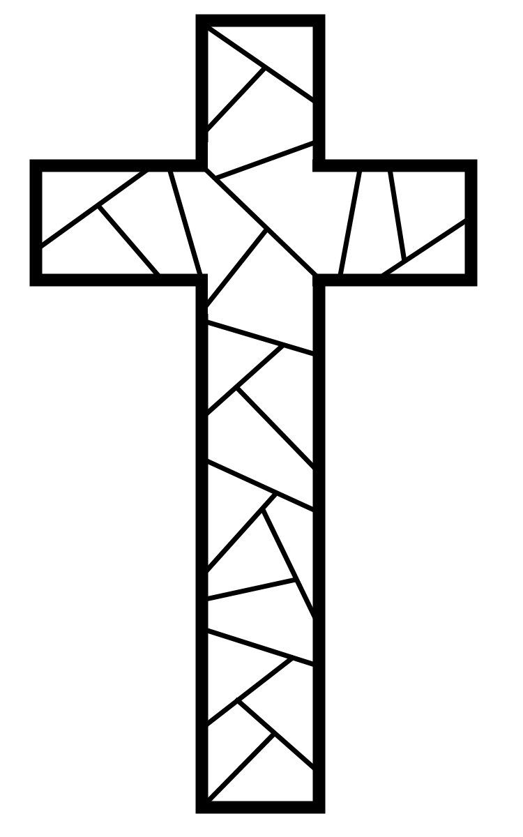 Free Printable Cross Coloring Pages Easter, Ornament and