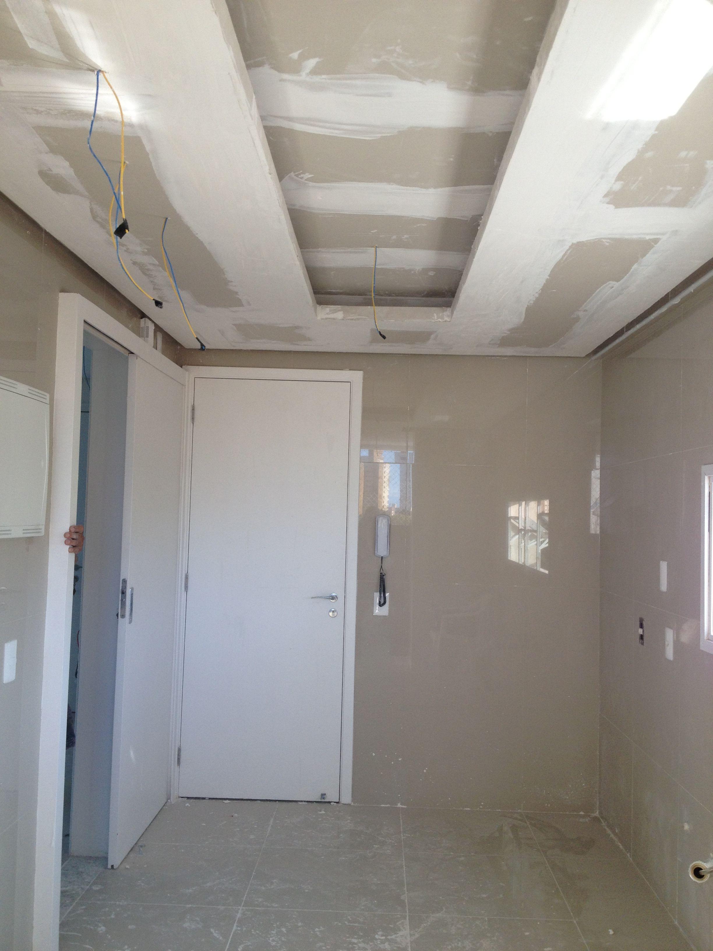 Forro De Gesso Cozinha Apartamento Residencial Obras Em