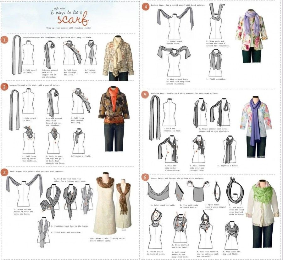 J.V. Fashion you can wear 6 ways to tie a scarb
