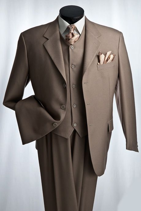 Mens 3pc Brown,Heather Grey,Navy,Taupe,Burgundy,Black,Grey or ...