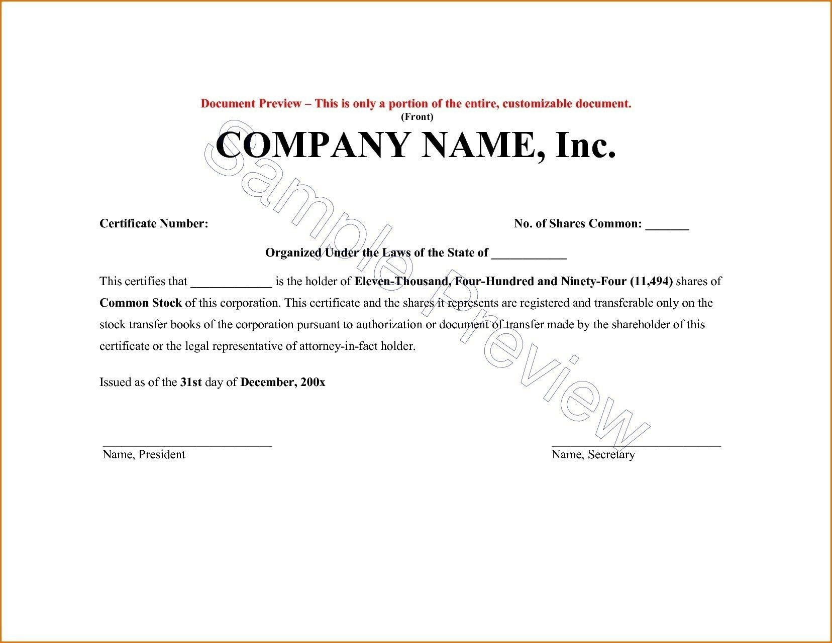 Share Certificate Template Alberta Urgent Request Letter Within
