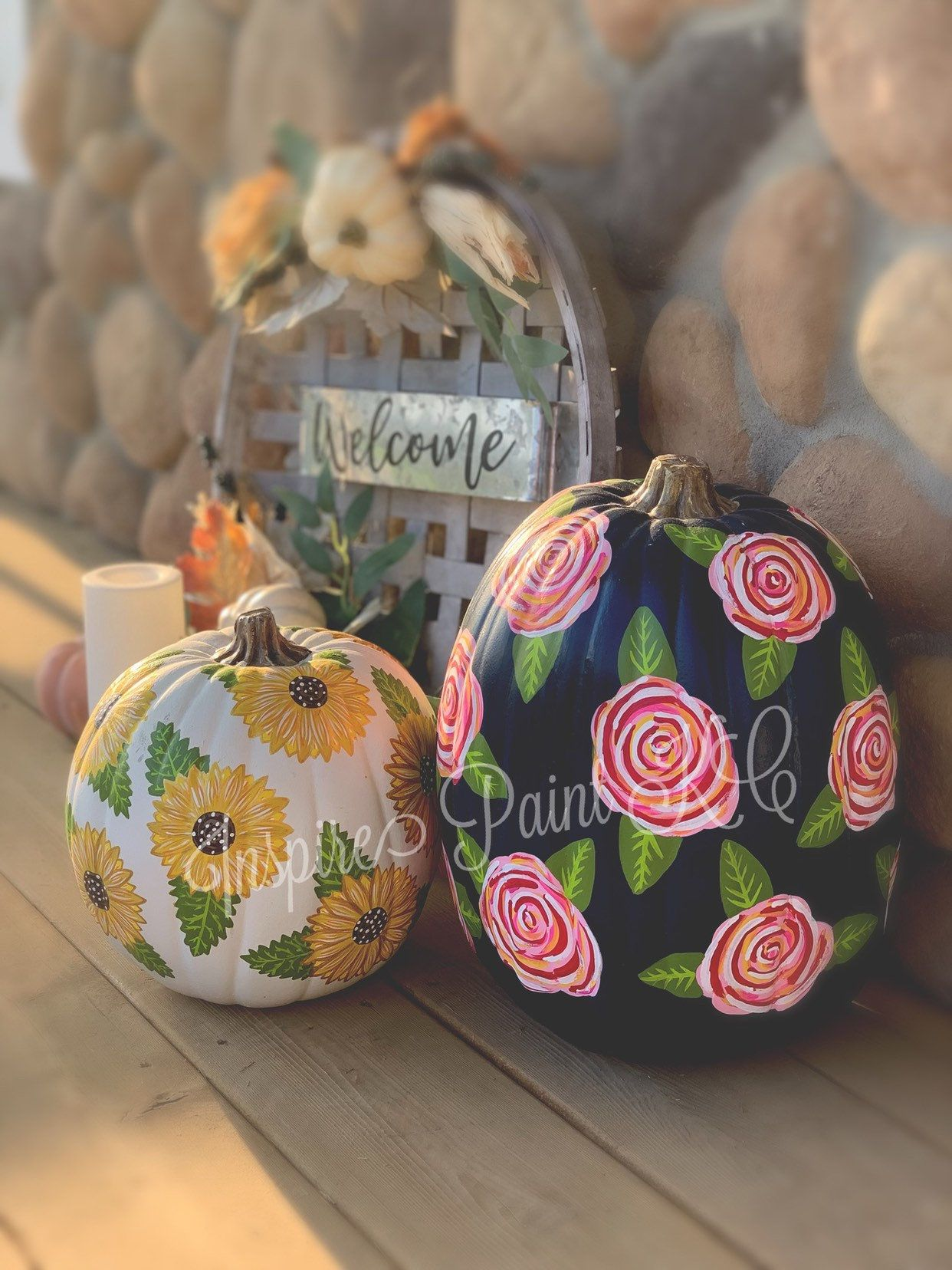 Faux Painted Pumpkins, Faux Pumpkins, Pumpkin Painting