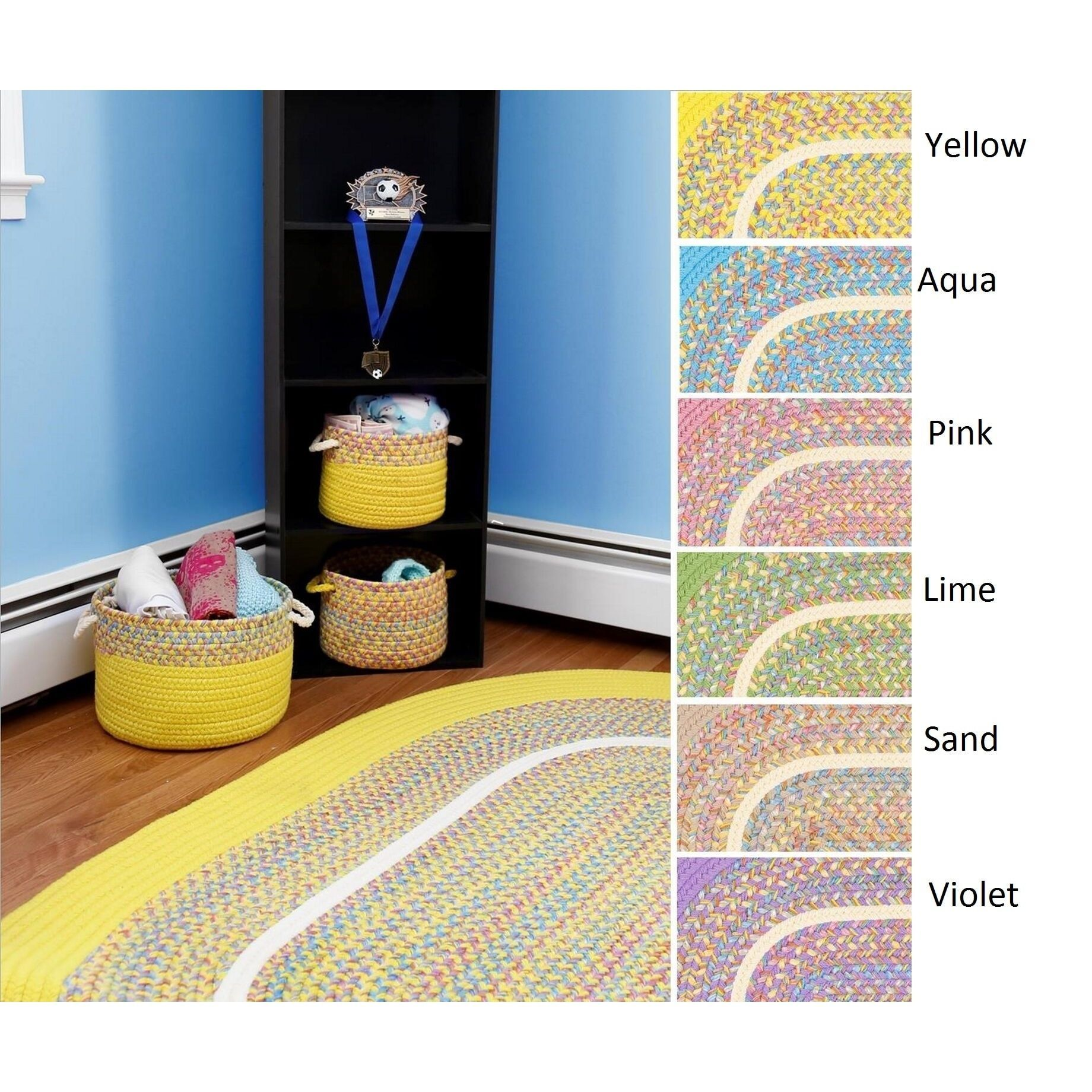 Kids Place Indoor Outdoor Reversible Braided Rug By Rhody Rug 8 Ft X 11 Ft Kids Area Rugs Children S Place Indoor Outdoor