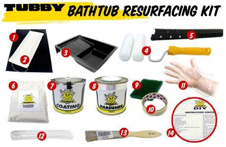 TUBBY DIY Bath Resurfacing Kit - Bath Resurfacing | Surface ...