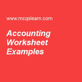 Accounting Worksheet Examples Financial Management Pinterest - balance sheets format