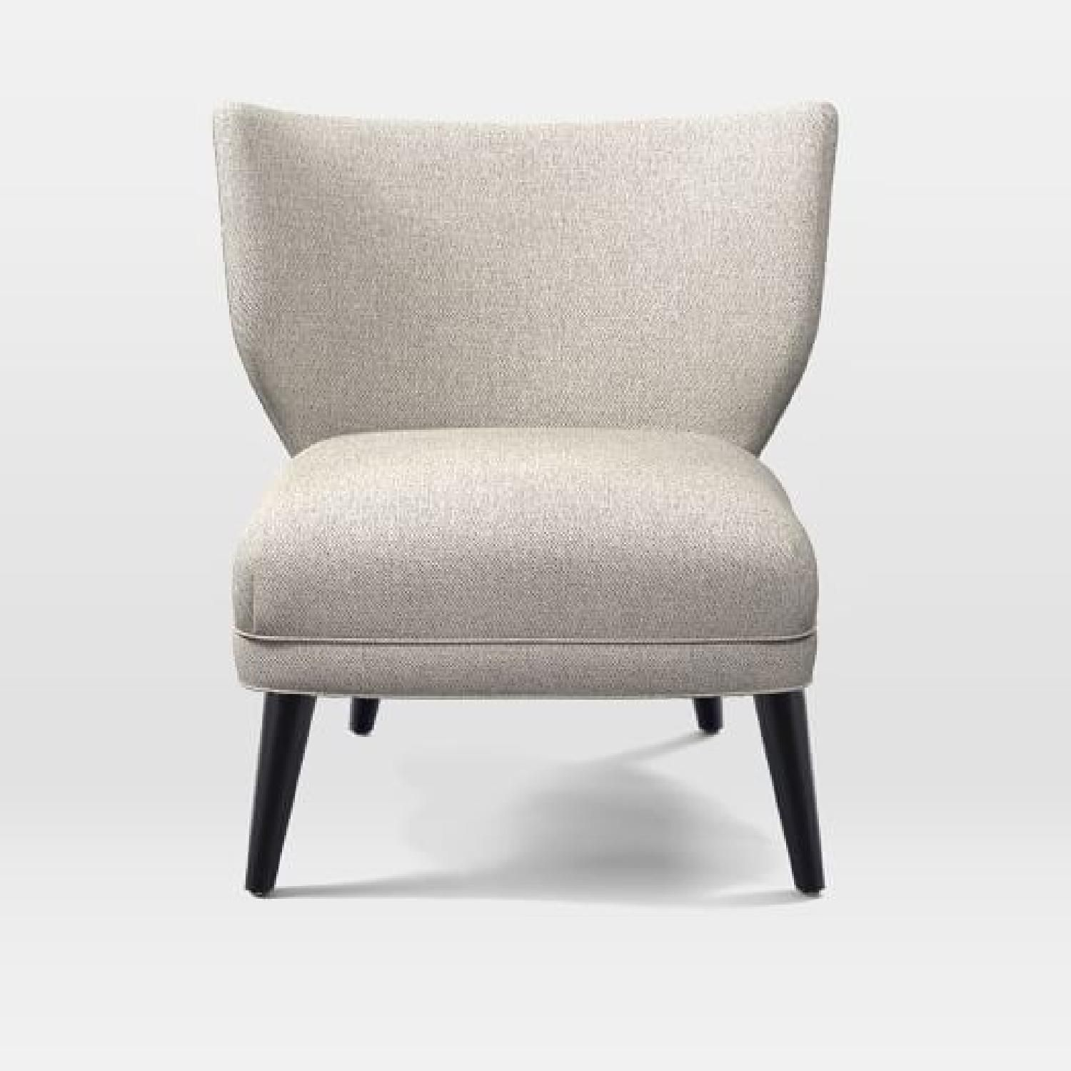 West Elm Retro Wing Chair In Twill Stone