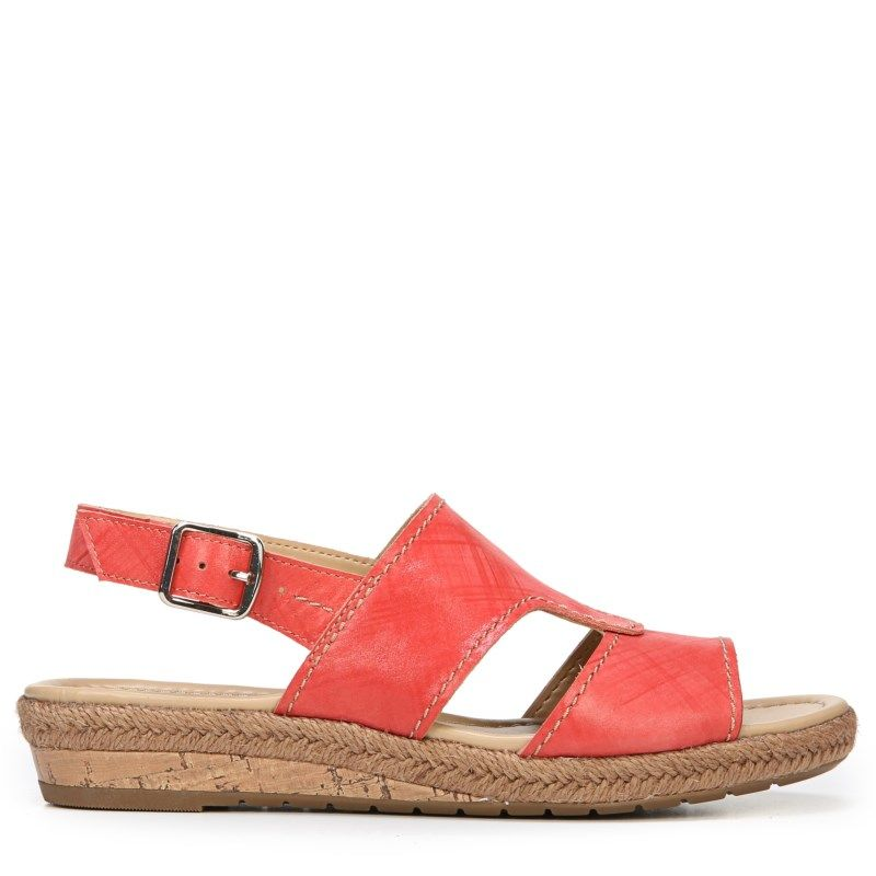 Naturalizer Women's Reese Narrow/Medium/Wide Espadrille Wedge Sandals  (Punch Plaid Leather)