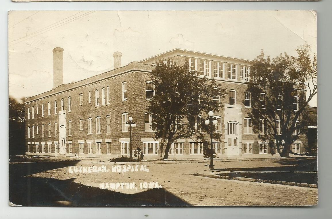 1912 Hampton Ia Iowa Lutheran Hospital Real Photo Postcard Ebay