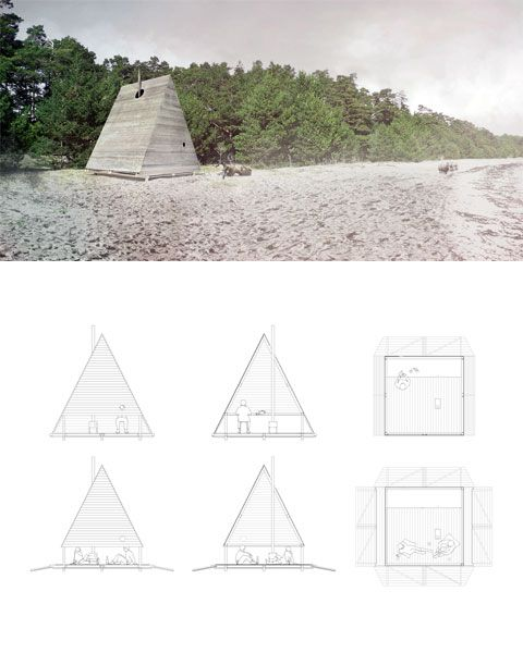 Blacklodge beach cabin: The design can be adapted for anywhere...