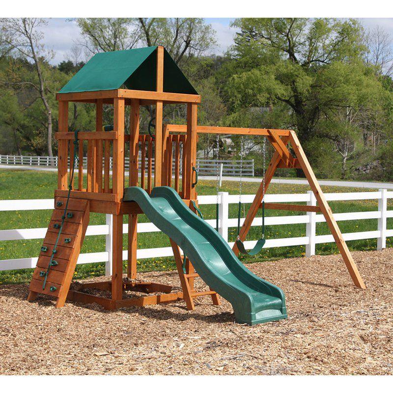 A L Classic Wooden Swingset Backyard Swing Sets Wooden Swing Set Backyard For Kids