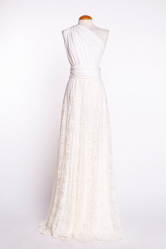 Rustikale Brautkleid gebrochenes Weißen Brautkleid von mimetik ...
