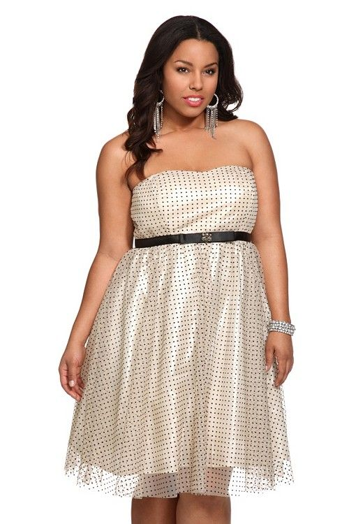 This picture doesn't do this dress justice! It looks super cute and sort of 50s style. I need someone to throw a Mad Men party so I can wear this and drink cocktails!