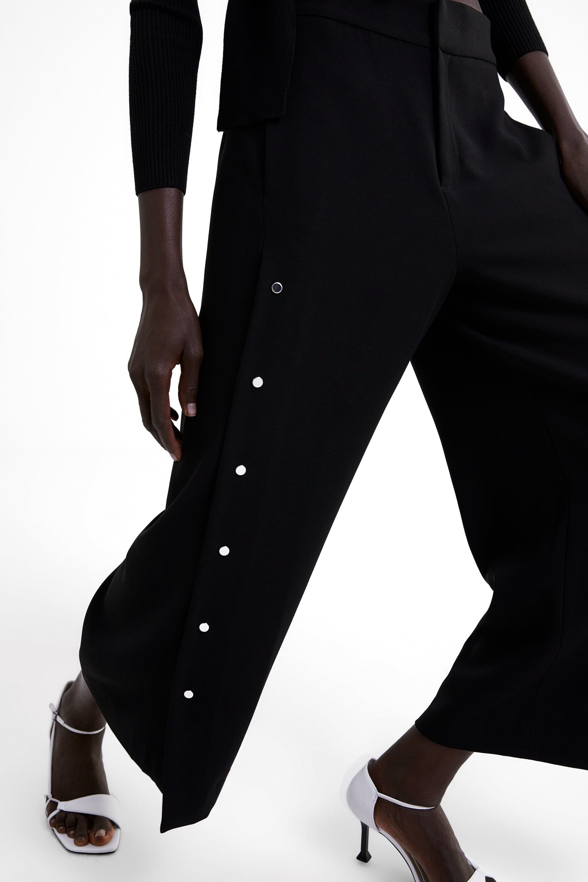 Photo of APPLIQUÉD WIDE-LEG TROUSERS