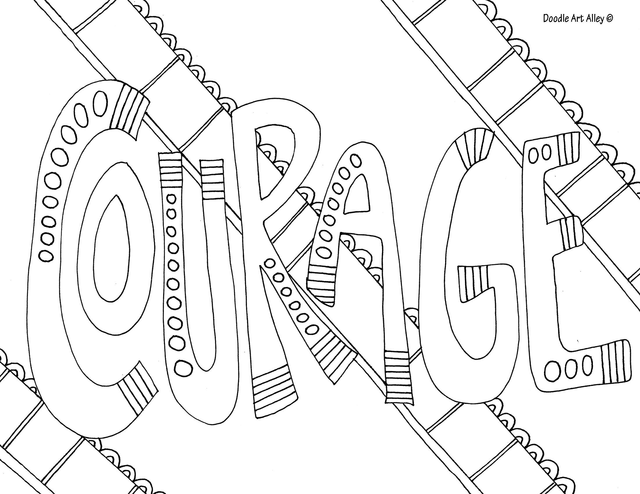 Courage Jpg Quote Coloring Pages Coloring Pages Bible Coloring Pages