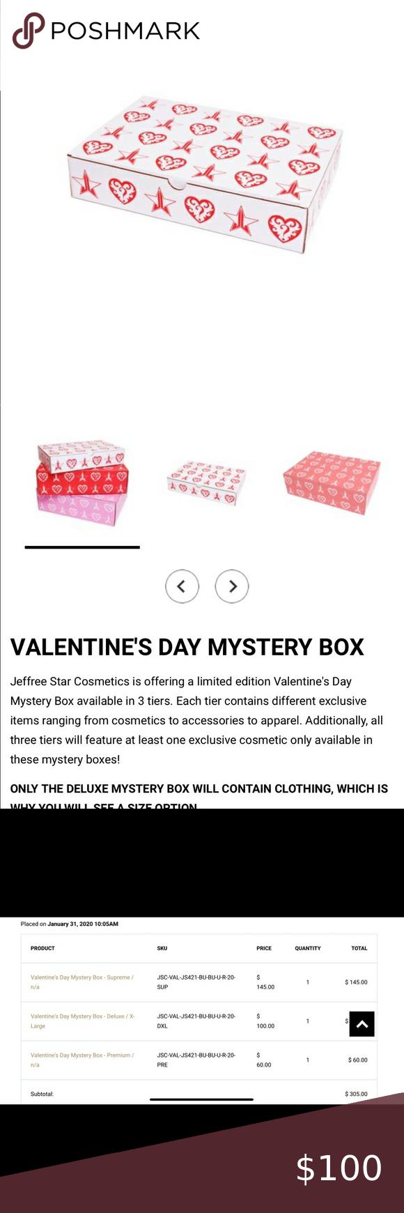 Jeffree Star 2020 Valentines Mystery Box Premium in 2020