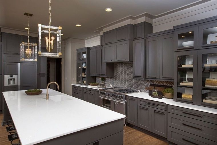 arredamento cucina colore grigio elettrodomestici acciaio ...