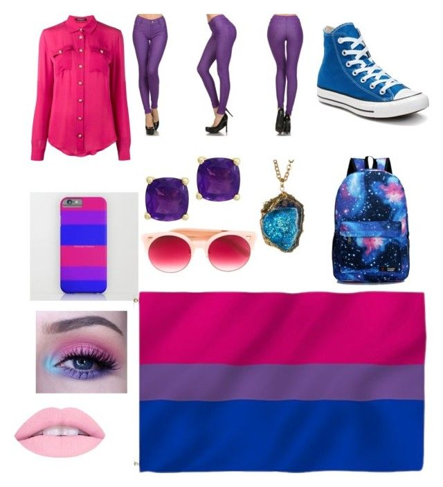 """""""bi"""" by tiarranash on Polyvore featuring Balmain, Converse, Effy Jewelry and Pared"""
