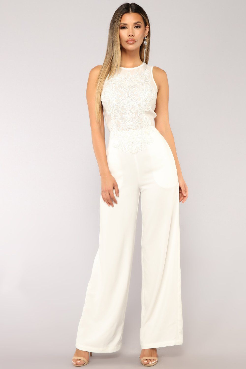 e67b6a3e1d6 Among The Stars Jumpsuit - White