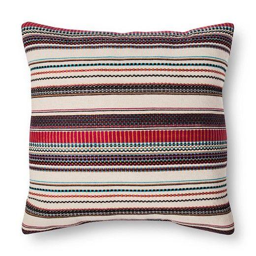 Woven Stripe Square Pillow Threshold