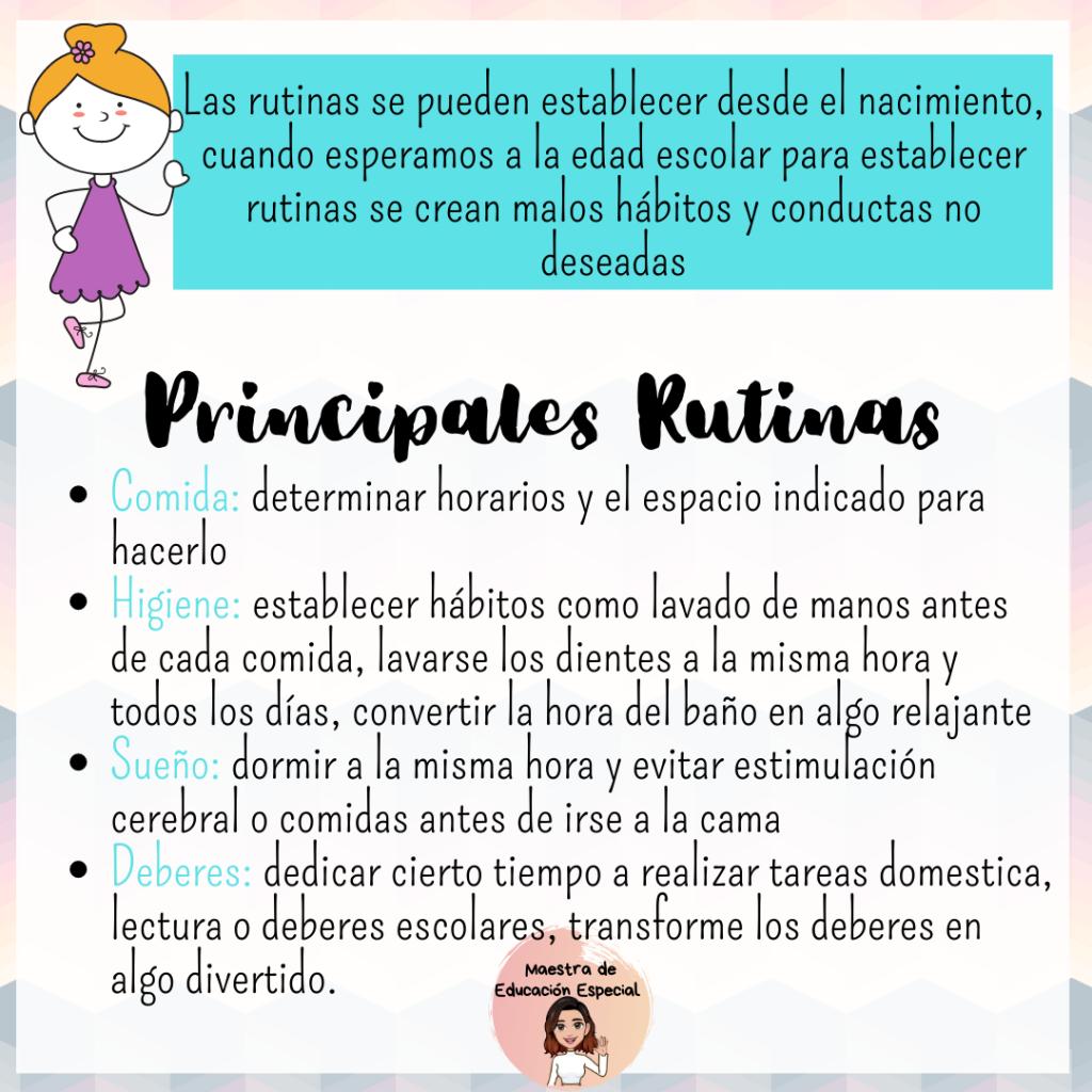 Importancia De Las Rutinas En La Infancia Problemas De Aprendizaje Educacion Emocional Libros De Autoayuda