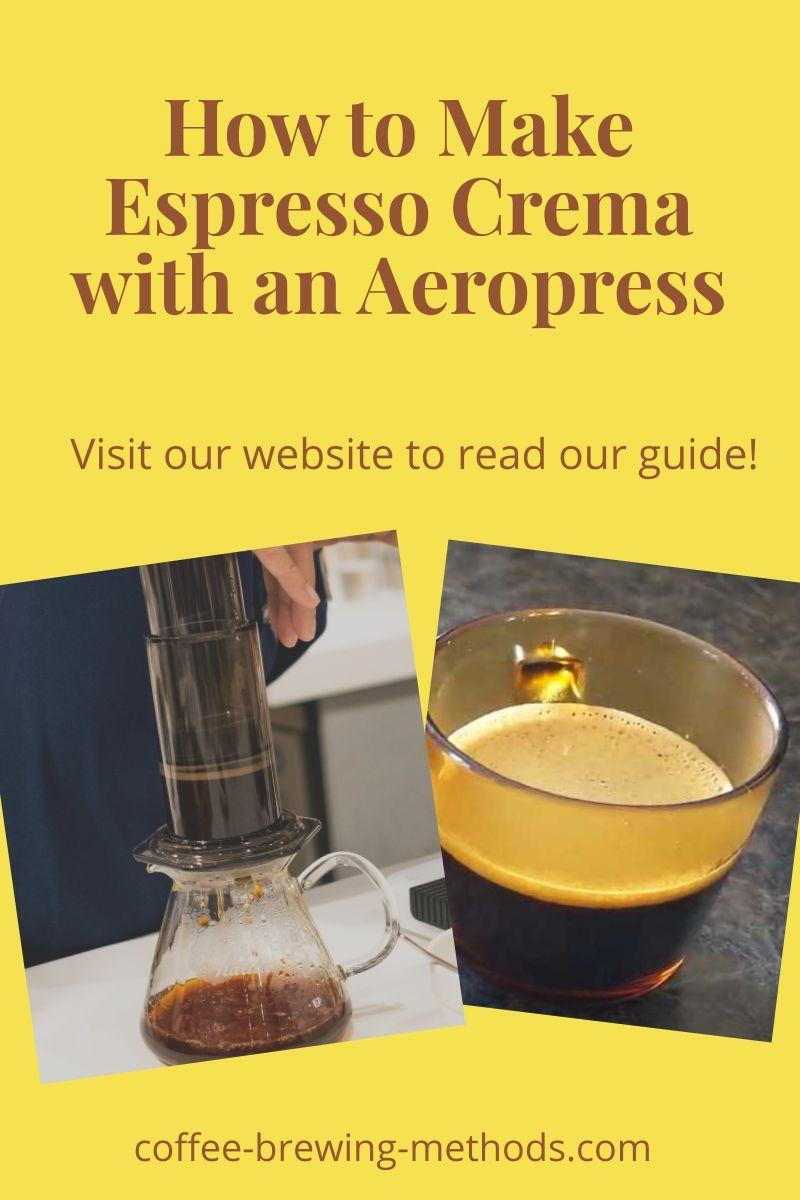 How To Make Crema With The Aeropress Espresso Alternatives Strong Coffee Recipe Aeropress Recipes Coffee Recipes