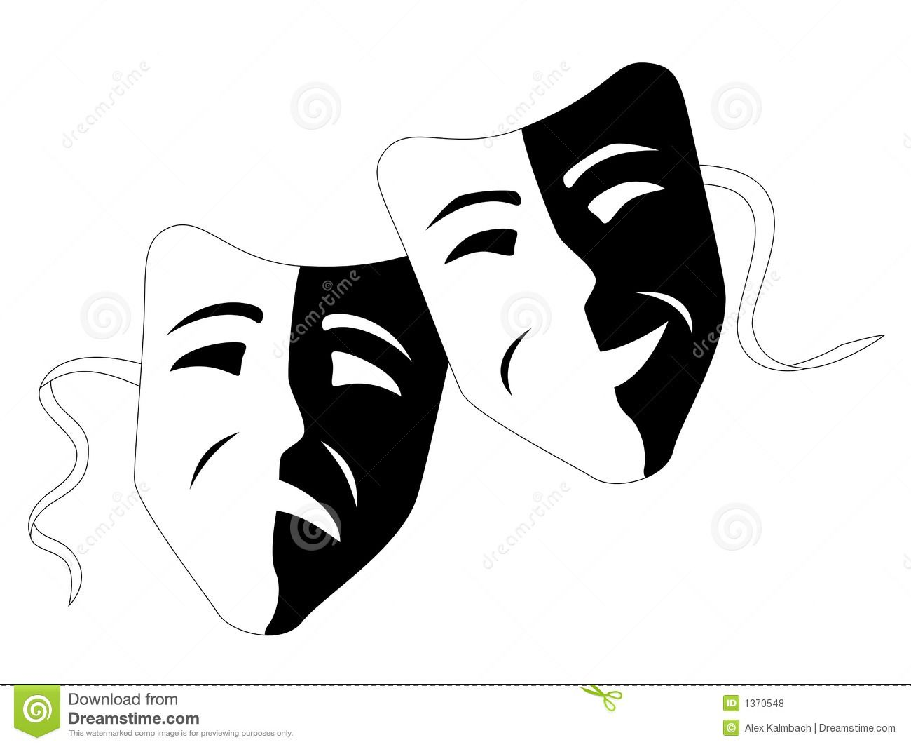 Theatre Comedy Tragedy Masks Stock Illustrations – 139 Theatre ...