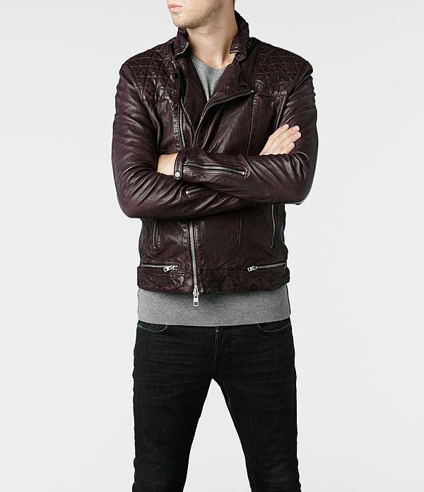 Allsaints Conroy Leather Biker Jacket Mens Biker Jackets Jackets