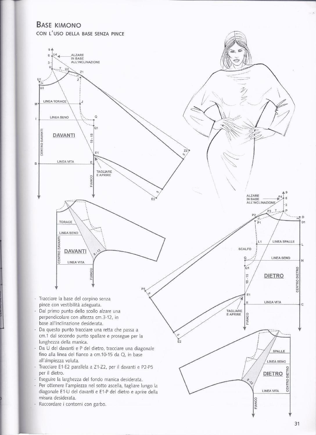 base kimono 3 | Cruz | Patrones, Costura y Moldes