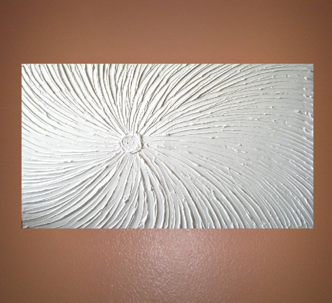 Textured Plaster On Canvas Starburst Wall Art Art Painting Plaster Art