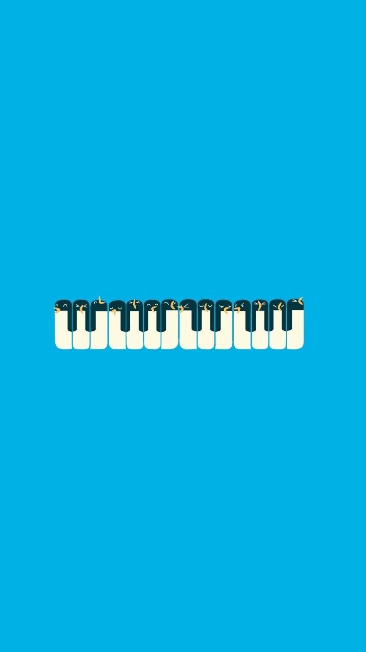 Penguins Piano Minimal Illustration iPhone 6 Wallpaper  iPhone Wallpapers  Pinterest