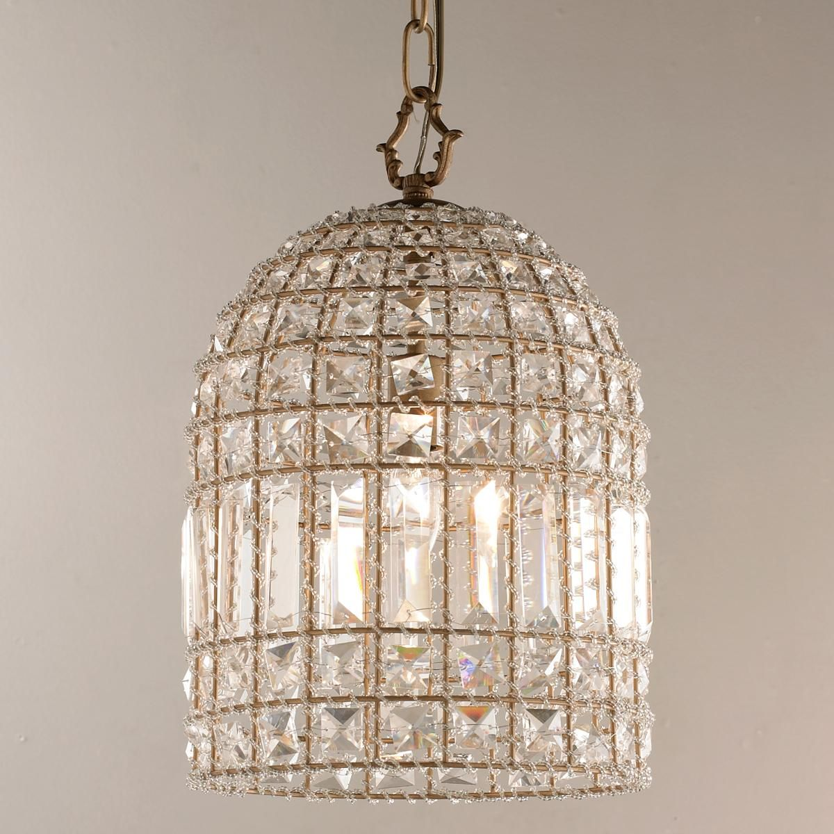 cage light pendant by crystal dome pendant large accent lighting pinterest lights
