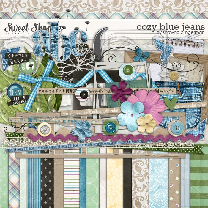 Sweet Shoppe Designs::2013 Going, Going....GONE!::Kits::Cozy Blue Jeans by Shawna Clingerman