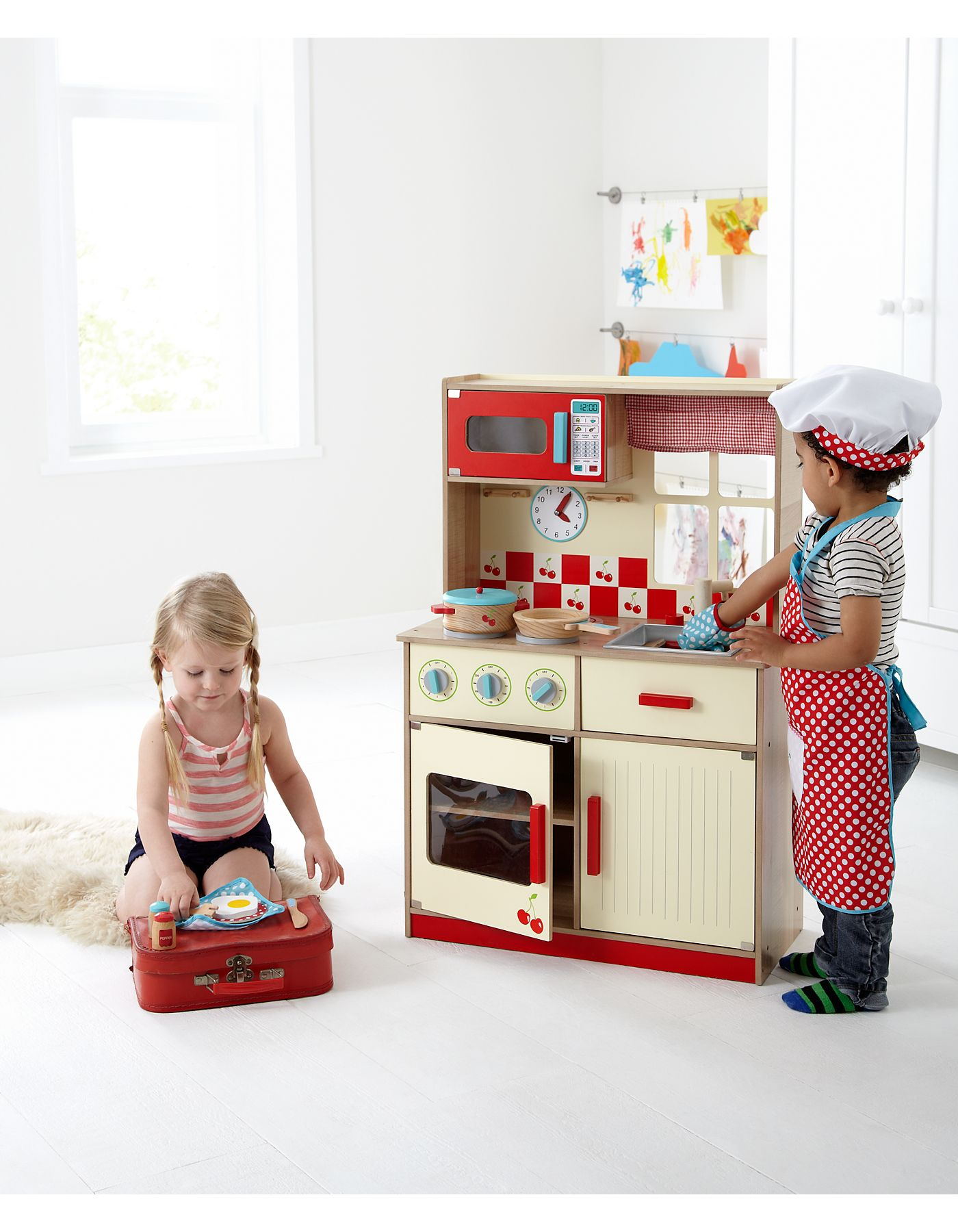This is pretty cute... George Home deluxe wooden kitchen from ASDA ...