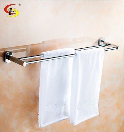 Copper Double Pole Bathroom Towel Rack Frame Toilet Hangs Longer Icon2 Luxury Designer
